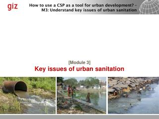 [ Module 3] Key issues of urban sanitation