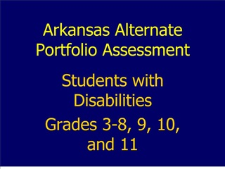 arkansas alternate portfolio assessment