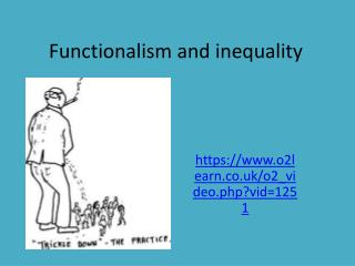 Functionalism and inequality