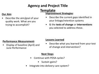 Agency and Project Title Template