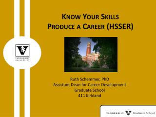 Know Your Skills Produce a Career (HSSER)