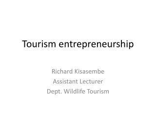 Tourism entrepreneurship
