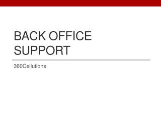Back Office Support