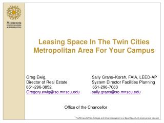 Leasing Space In The Twin Cities Metropolitan Area For Your Campus
