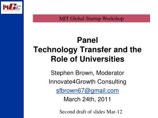 Panel Technology Transfer and the Role of Universities