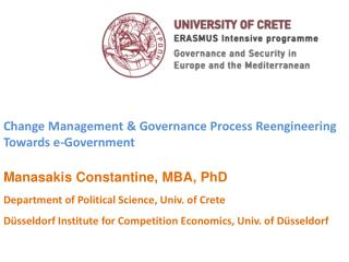 Change Management  &  Govern ance Process Reengineering Towards e-Government