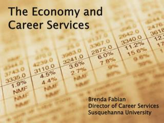 The Economy and  Career  S ervices