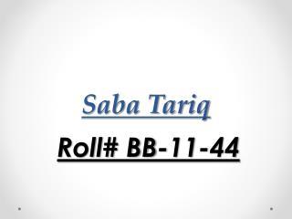 Saba Tariq