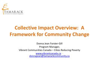 Collective Impact Overview:  A Framework for Community Change