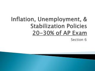 Inflation, Unemployment, & Stabilization Policies 20-30% of AP Exam