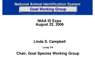 u. s. animal identification plan