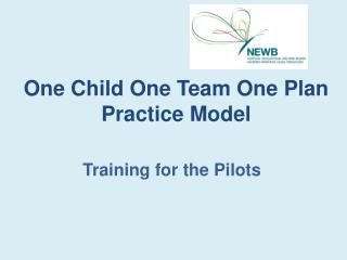 One Child One Team One Plan Practice Model