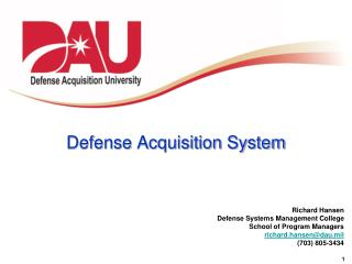 Defense Acquisition System