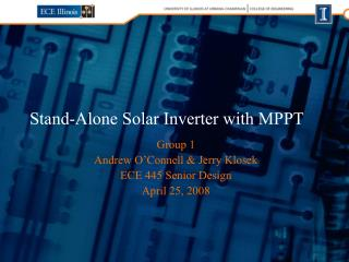 Stand-Alone Solar Inverter with MPPT