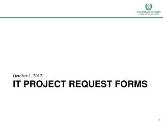 IT Project Request Forms
