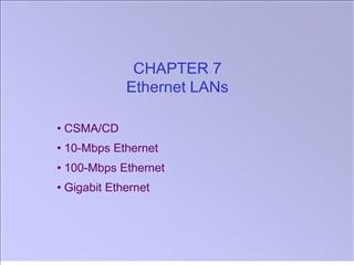 chapter 7 ethernet lans