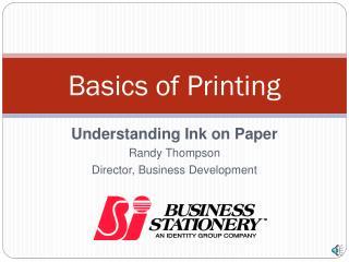 Basics of Printing