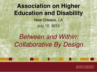 Between and Within: Collaborative By Design