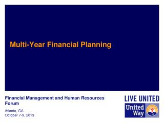 Multi-Year Financial Planning