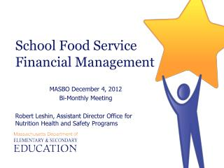 School Food Service Financial Management