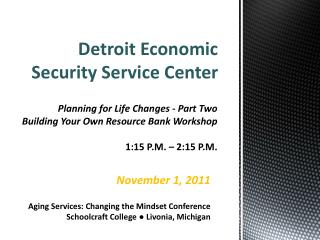 Detroit Economic Security Service Center