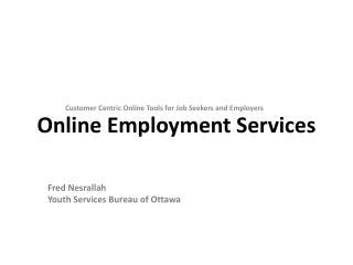 Online Employment Services
