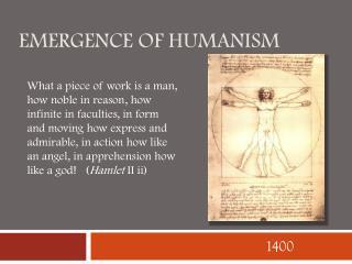 Emergence of humanism