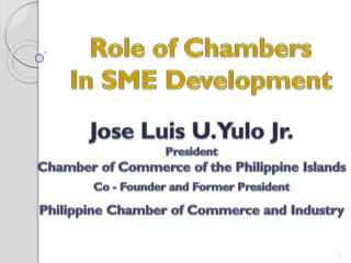 Role of Chambers In SME Development