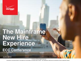 The Mainframe New Hire Experience ECC Conference