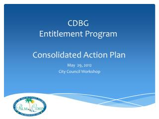 CDBG Entitlement Program  Consolidated Action Plan