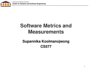 Software Metrics and Measurements