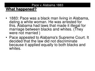 Pace v. Alabama 1883