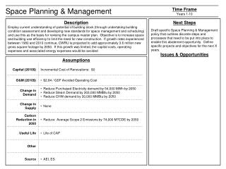 Space Planning & Management