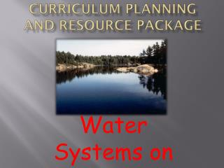 Curriculum Planning and Resource Package