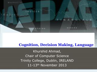 Cognition, Decision Making, Language