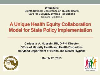 A Unique Health Equity Collaboration Model for State Policy Implementation
