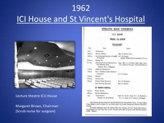 1962 ICI House and St Vincent's Hospital