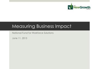 Measuring Business Impact