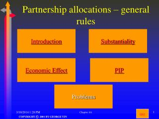Partnership allocations – general rules