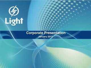 Corporate Presentation January 2013
