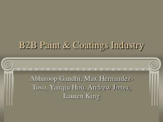B2B Paint & Coatings Industry