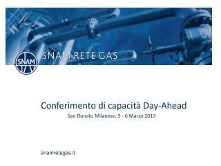 Conferimento di capacità  Day-Ahead