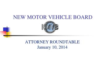 NEW MOTOR VEHICLE BOARD