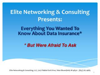 Elite Networking & Consulting Presents: