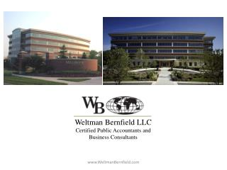 Weltman Bernfield LLC Certified Public Accountants and Business Consultants