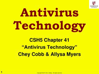Antivirus Technology