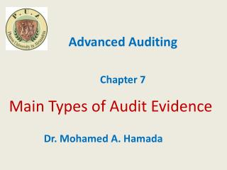 Main Types  of Audit Evidence