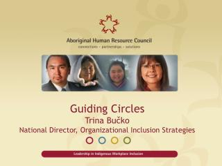 Guiding Circles Trina  Bučko National Director, Organizational Inclusion Strategies