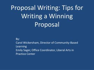 Proposal Writing: Tips for Writing a Winning Proposal