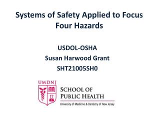 Systems of Safety Applied to Focus Four Hazards